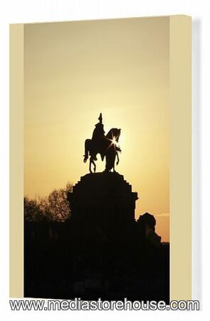 Canvas Print Of Silhouette Of Statue Of Kaiser Wilhelm I