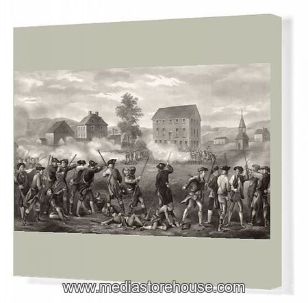 The Battle Of Lexington April 19 1775. First Shots Of The