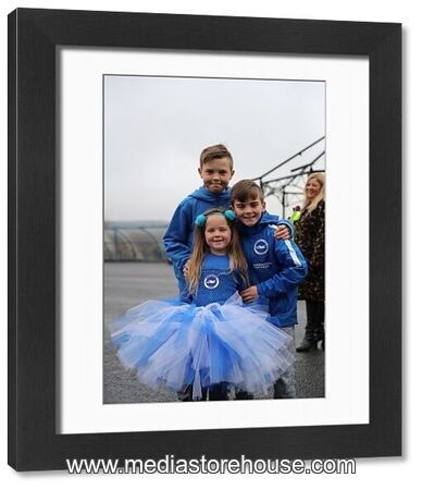 Christmas Party Brighton: Framed Print Of Young Seagulls Christmas Party Amex